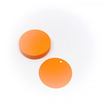 Etiketten rund blanko orange 38 mm