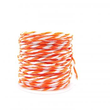 Papierband orange weiß 10 m