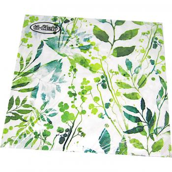 Servietten Boho Leaves & Herbs green