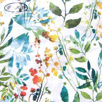 Serviette Boho Leaves & Herbs multi