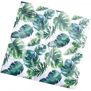 Serviette 3-lagig Dense Jungle Leaves 20 Stück
