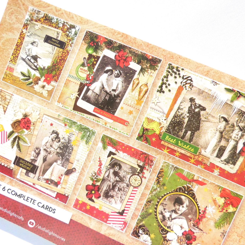 kartengestaltung weihnachtskarten stanzblock vintage. Black Bedroom Furniture Sets. Home Design Ideas